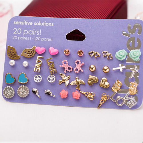 20 UNIQUE STUD EARRINGS PACK