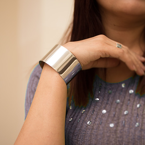 BRONZE GOLD PLATED CUFF BRACELET