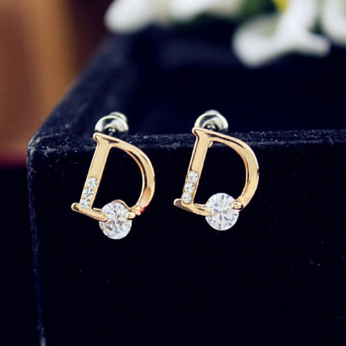 CHRISTIAN DIOR STUD EARRINGS
