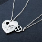HEART BROKEN NECKLACE WITH KEY
