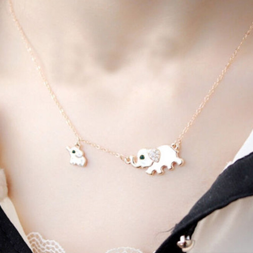 HIGH QUALITY CUTE ELEPHANT NECKLACE second view
