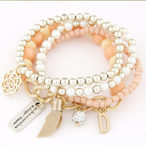 MULTILAYER METAL BEADED WRAP BRACELET