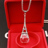 PARIS EIFFEL TOWER PENDANT NECKLACE