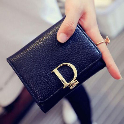 CHRISTIAN DIOR BLACK WALLETS