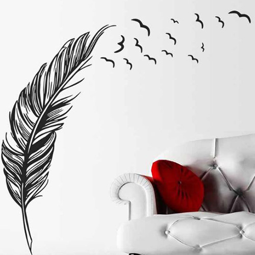 FLYING FEATHERS WALL STICKERS