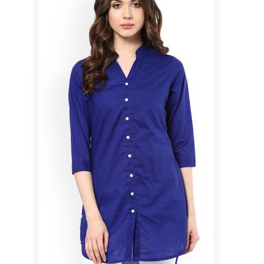 Beige Linen Top with net work sleeves front