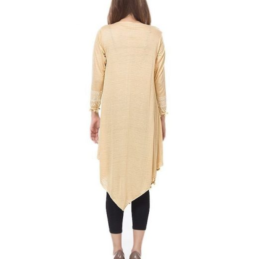 Black Dot printed Tunic For Women front