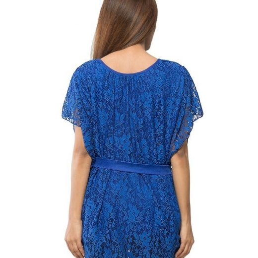 Blue Stylish And Trendy Pocho For Women front
