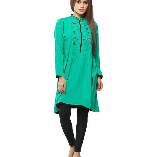 Green  Stylish Top  For Women front
