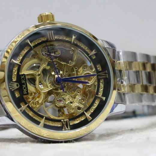 Rolex Skeliton Steel Automatic Watch for Men first view
