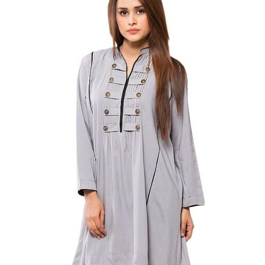 Light Grey Stylish Top For Women front