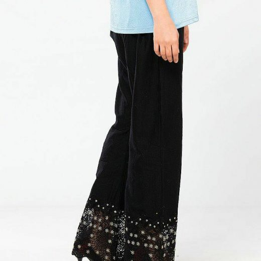 New Net and Cotton Bootcut Trouser For Women front