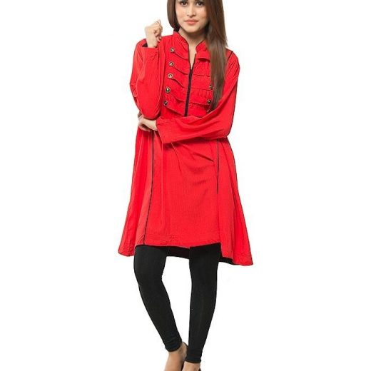 Red  Stylish Top  For Women front