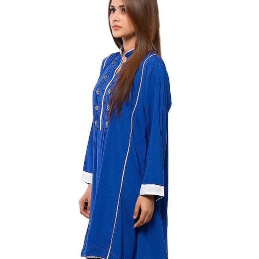 Royal Blue Stylish Top  For Women front