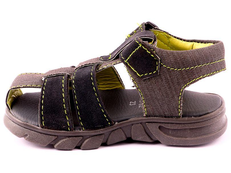 Kids Children Casual Sandal GREY fourth view