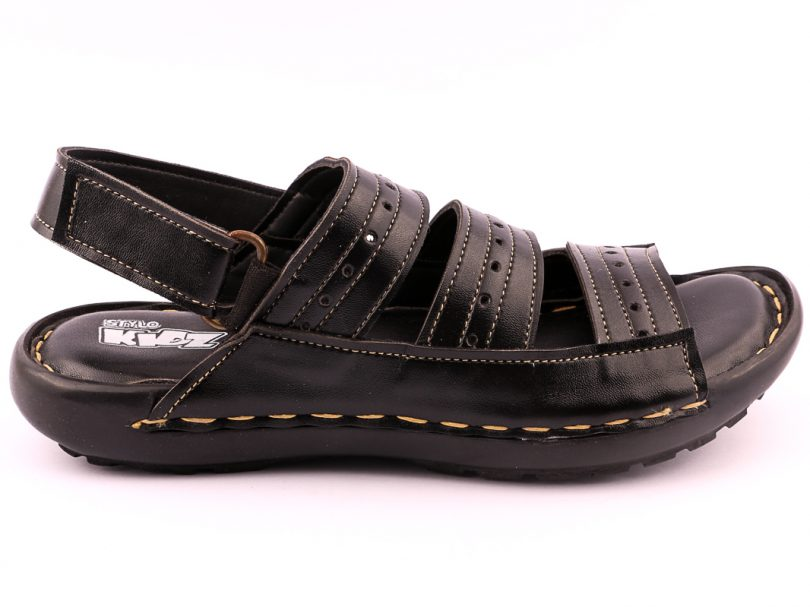 Kids Children Formal Sandal BLACK third view
