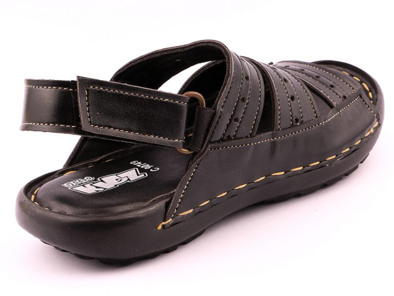 Kids Children Formal Sandal BLACK fifth view