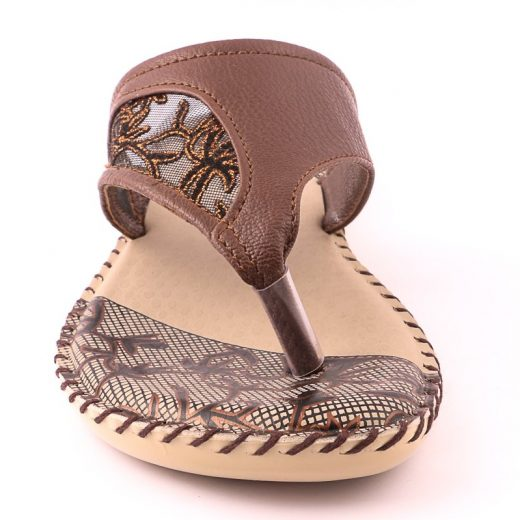 Ladies Casual Chappal Brown