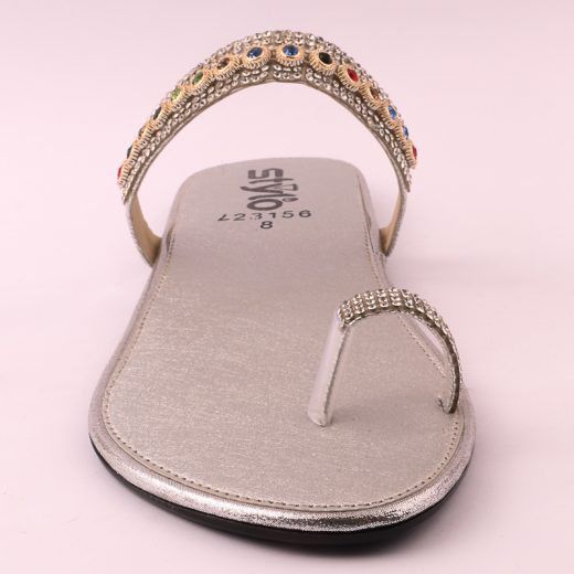 Ladies Casual Chappal SILVER