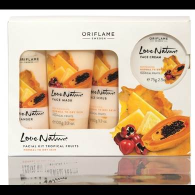 Love Nature Facial Kit Tropical Fruits